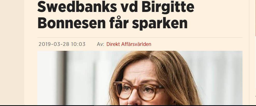 Birgitte Bonnensen får sparken
