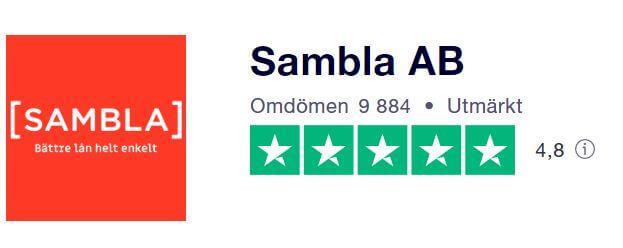 Trustpilot - Sambla